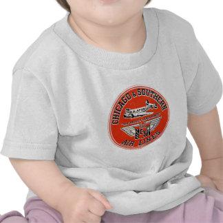 Chicago y líneas de aire meridionales logotipo camisetas