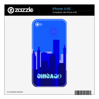 Chicago Zazzle Skin Decals For The iPhone 4