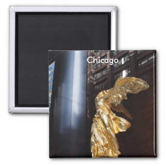 Chicago's Angel 2 Inch Square Magnet