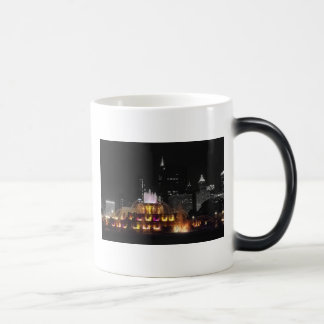 Chicago's Buckingham Fountain At Night 11 Oz Magic Heat Color-Changing Coffee Mug
