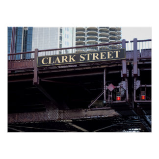 CHICAGO's CLARK STREET BRIDGE Poster