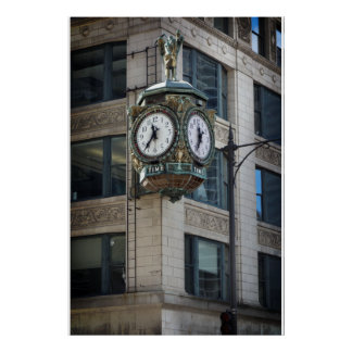 CHICAGO's FATHER TIME CLOCK Poster