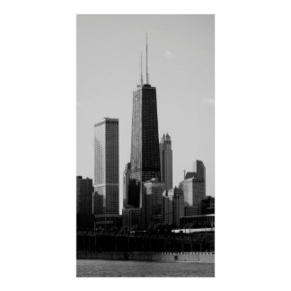 CHICAGO's HANCOCK CENTER SKYSCRAPER Poster