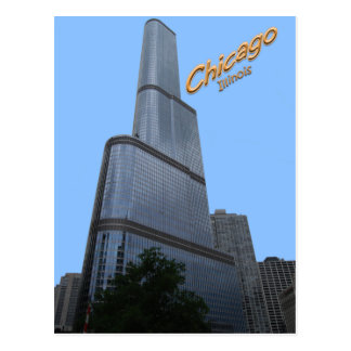 Chicagos Trump Tower Office Building Postcard