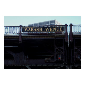 CHICAGO's WABASH AVENUE BRIDGE Poster