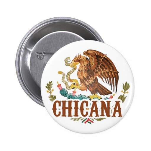 Chicana Mexico Coat of Arms Button