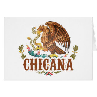 Chicana Mexico Coat of Arms Card