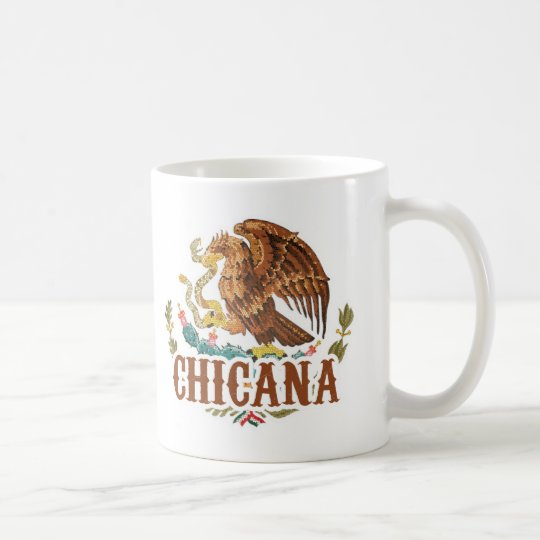 Chicana Mexico Coat of Arms Coffee Mug