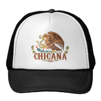 Chicana Mexico Coat of Arms Trucker Hats