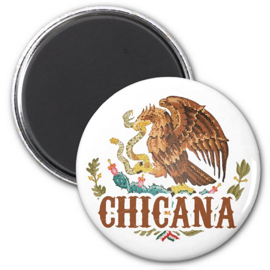 Chicana Mexico Coat of Arms Magnet