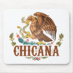 Chicana Mexico Coat of Arms Mousepad