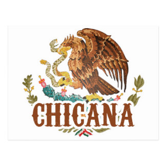 Chicana Mexico Coat of Arms Postcard