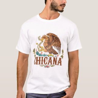 Chicana Mexico Coat of Arms T-Shirt