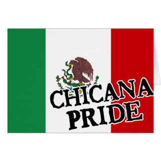 Chicana Pride Mexican Flag Card
