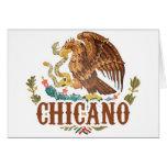 Chicano del escudo de armas de México Tarjeta De Felicitación