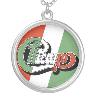 Chicano Round Pendant Necklace