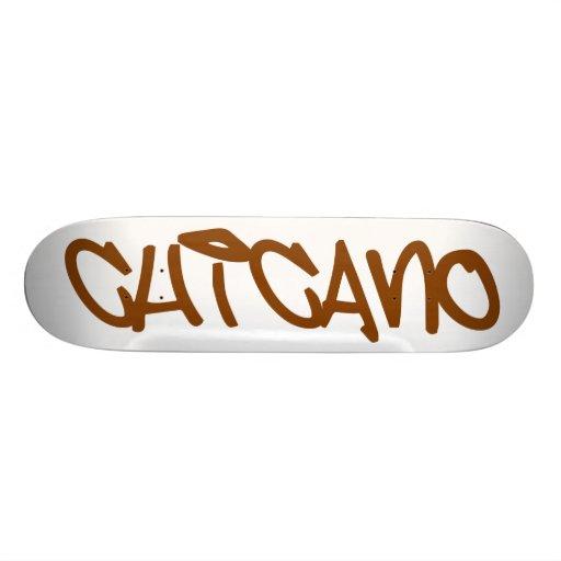 Chicano tag skate board decks