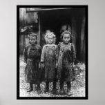 Chicas 1910 de Shucker de la ostra Posters