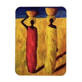 Chicas 1991 del Calabash Imán Flexible
