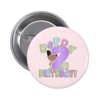 Chicas 2do cumpleaños, afroamericano pin