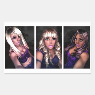 Chicas bonitos del Internet Rectangular Altavoces