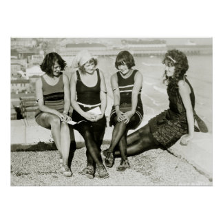 Chicas bonitos, los años 20 póster