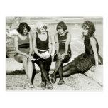 Chicas bonitos, los años 20 tarjeta postal