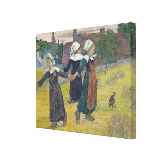 Chicas bretones que bailan, Pont-Aven, 1888 Impresiones En Lona