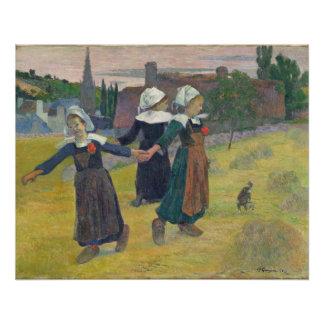 Chicas bretones que bailan, Pont-Aven, 1888 Perfect Poster