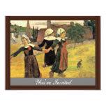 Chicas bretones que bailan Pont-Aven de Paul Anuncio Personalizado