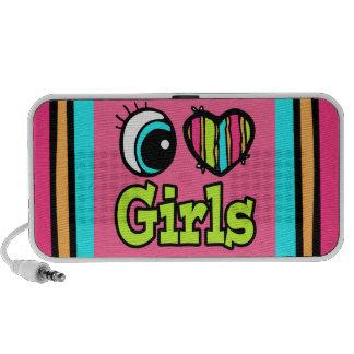 Chicas brillantes del amor del corazón I del ojo Laptop Altavoz