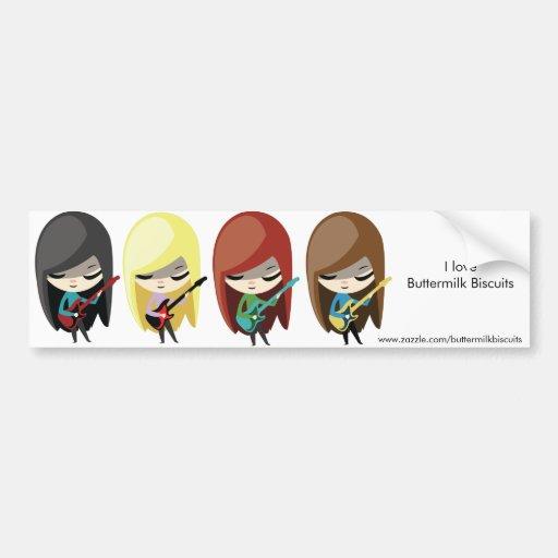 Chicas Bumpersticker de Rockstar Etiqueta De Parachoque