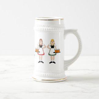 ¡Chicas, cerveza, Oktoberfest! Taza De Café