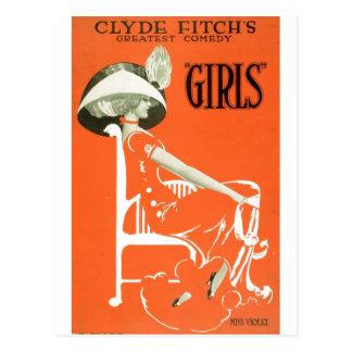 Chicas - comedia de Clyde Fitch 1910 Postales