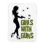 Chicas con el imán de los armas