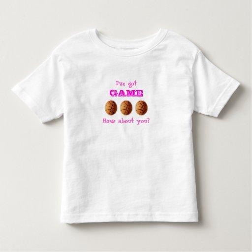 Chicas conseguidos del juego camiseta del playera