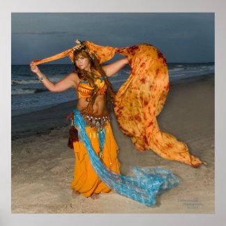 Chicas costeros del calendario… Cambiador de la ma Póster