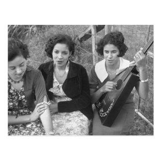 Chicas criollos en Luisiana, los años 30 Postales