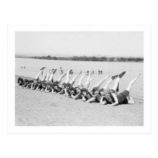 chicas de baile de los años 20 postal