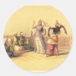 Chicas de baile del Harem El Cairo Pegatina
