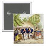 Chicas de baile polinesios, grabados por A. Bernat Pin Cuadrado