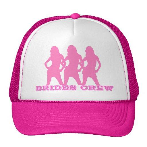 Chicas de baile rosados, equipo de las novias gorros bordados