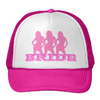 Chicas de baile rosados, novia gorra