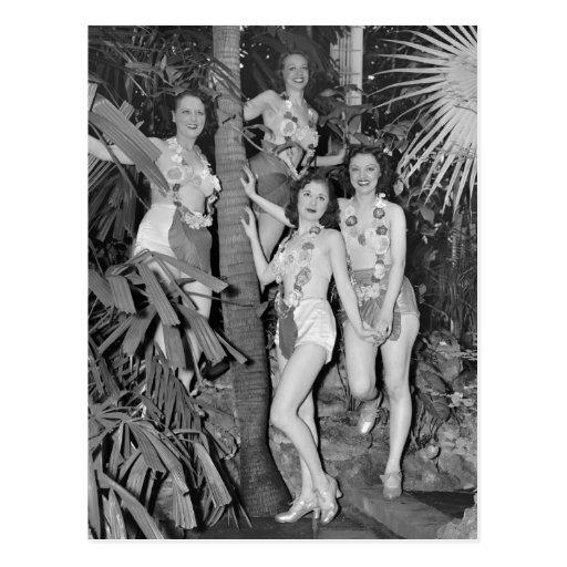 Chicas de California, los años 30 Postales