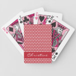 Chicas de encargo retros blancos rojos nombre, reg barajas de cartas