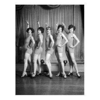 Chicas de estribillo, 1927 postal