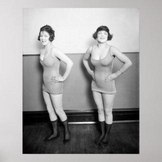 Chicas de estribillo escaso revestidos, 1920 impresiones