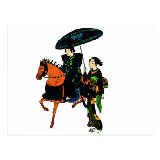 chicas de geisha tarjetas postales