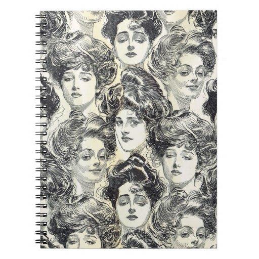 Chicas de Gibson de Charles Dana Gibson circa 1902 Note Book