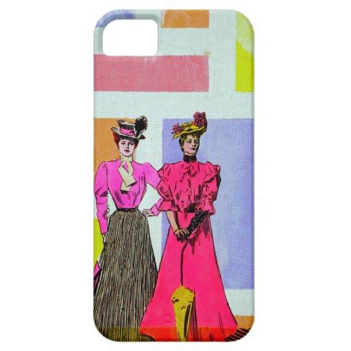 Chicas de Gibson en un modelo de Mondrian iPhone 5 Fundas
